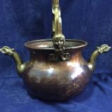 Jardiniera cupru ornamete bronz - Metal/Fonta