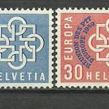 Elvetia 1959 - Europa, serie neuzata supr PTT
