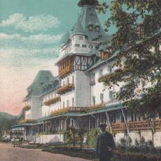 BAILE GOVORA VALCEA MARELE HOTEL SOC. GOVORA CALIMANESTI ED. SOCEC&CO BUCURESTI - Carte Postala Oltenia dupa 1918, Necirculata, Printata