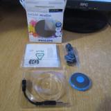 MP3 PHILIPS GOGEAR MINIDOT 2 GB BLUE CA NOU LA CUTIE CU ACCESORII - MP3 player Philips, Albastru