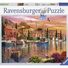 Puzzle Ravensburger PORT MEDITERANEAN 1500 piese