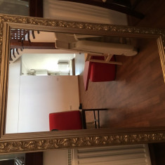 Oglinda stil baroc, rama din lemn argintiu - Oglinda living