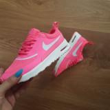 Adidasi Nike Air Max Thea roz deschis dama noi originali cutie import UK 38-40 - Adidasi dama Ugg, Culoare: Din imagine, Marime: 36, 37, 39, Piele sintetica