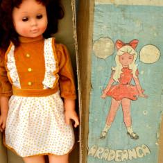 Papusa veche romaneasca de colectie Gabriela - ARADEANCA - 85cm ! - Papusa de colectie