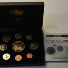Danemarca 2002 - Set PROBE-ESEURI EURO in cutie