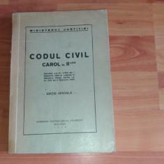 CODUL CIVIL CAROL AL II-LEA-MINISTERUL JUSTITIEI - Carte Drept civil