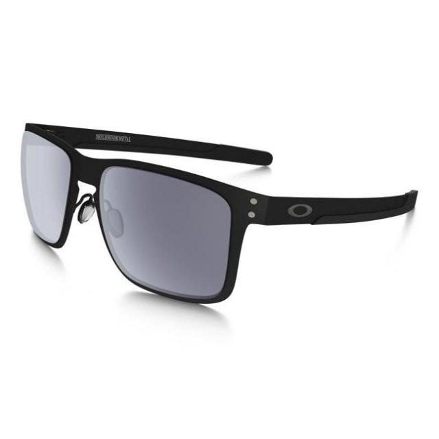 Ochelari de soare OAKLEY Holbrook Metal Matte Black w/ Grey (OAK-OO4123-0155) foto mare