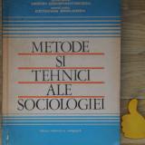 Metode si tehnici ale sociologiei Miron Constantinescu Octavian Berlogea - Carte Sociologie