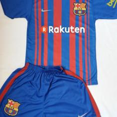Echipament copii BARCELONA, model nou 2017-2018, 10 Messi - Set echipament fotbal, Marime: YXXL, YXL, YL, YM, YS, YXS