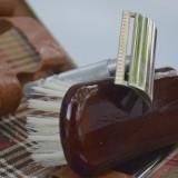 Trusa vintage de voiaj pentru barbierit si toaletare, aparat de ras incluse