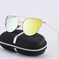 Ochelari De Soare Dama - CAT EYE / OCHI DE PISICA - Rama Metal, UV400 - MOdel 9, Femei