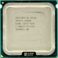 Procesor Intel Xeon E5420 Quad 2.5 GHz 12 MB 1333 MHz sk 771 modat la sk 775 - Procesor PC Intel, Numar nuclee: 4, 2.5-3.0 GHz, LGA775