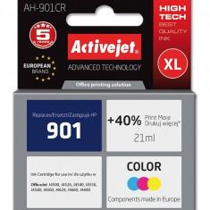 Cartus compatibil 901XL Color pentru HP, Premium Activejet, Garantie 5 ani - Cartus imprimanta