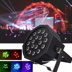 Proiector Scaner Joc Lumini Glob Disco Lumini 18 Leduri Rgb Club Dmx