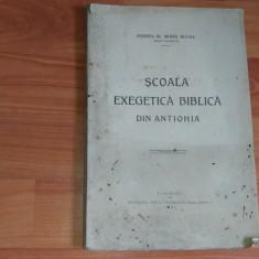 SCOALA EXEGETICA BIBLICA DIN ANTIOHIA-PREOT DR. MIHAIL BULACU