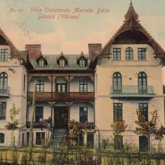 GOVORA VILA CONSTANTA MARIETA EDITURA OSCAR THURINGER R. VALCEA CIRC. 1907 - Carte Postala Oltenia 1904-1918, Baile Govora, Circulata, Printata