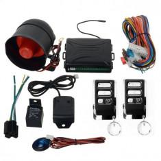 Alarma auto universala set cu 2 telecomenzi si senzor de soc kit sistem complet
