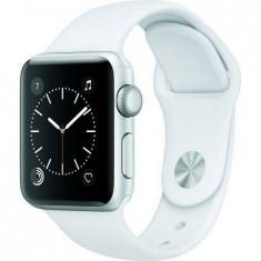 Apple Watch Series 2, 38mm Carcasă din Argint Aluminiu cu Brățară Sport Albă - Smartwatch