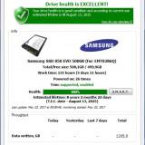 Ssd samsung evo 850 500 gb, 256 GB