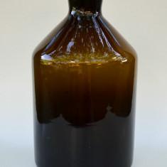 Sticlarie veche laborator sau farmacie, damigeana masiva 5l, sticla ambra