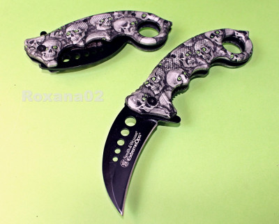 CUTIT. BRICEAG KARAMBIT. Smith and Wesson Extreme OPS Zombie Killer foto