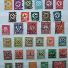 LOT TIMBRE GERMANIA REICH, Stampilat