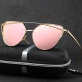 Ochelari De Soare Dama - CAT EYE / OCHI DE PISICA - Rama Metal , UV400 - MOdel 7, Femei, Protectie UV 100%