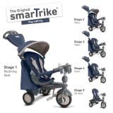 Tricicleta Smart Trike Recliner Infinity Blue - Tricicleta copii