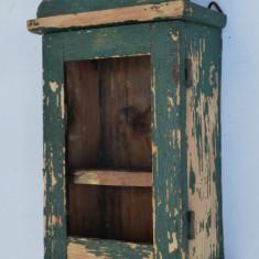 Cutie veche de perete pentru ceas, din lemn, prima jumatate a sec. XX