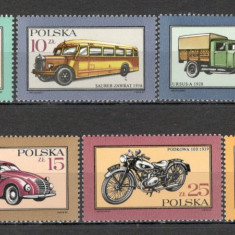 Polonia.1987 Automobile si motociclete SP.374 - Timbre straine, Nestampilat