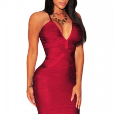 BAN341-81 Rochie sexy bandage, de cocktail cu decolteu adanc in V