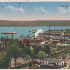 TURNU SEVERIN  SANTIERUL NAVAL SI PORTUL PORTUL CIRCULATA 1932