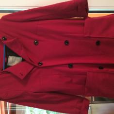 PLATON PULL&BEAR ROZ S-M, 36-38 - Palton dama Pull & Bear, Culoare: Ciclam