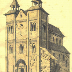 CP BN009 Complexul Muzeal Bistrita-Nasaud - Biserica din Herina -1885, Necirculata, Printata