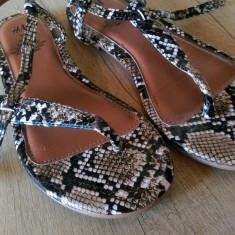 Sandale H&M - Sandale dama H&m, Culoare: Maro, Marime: 36