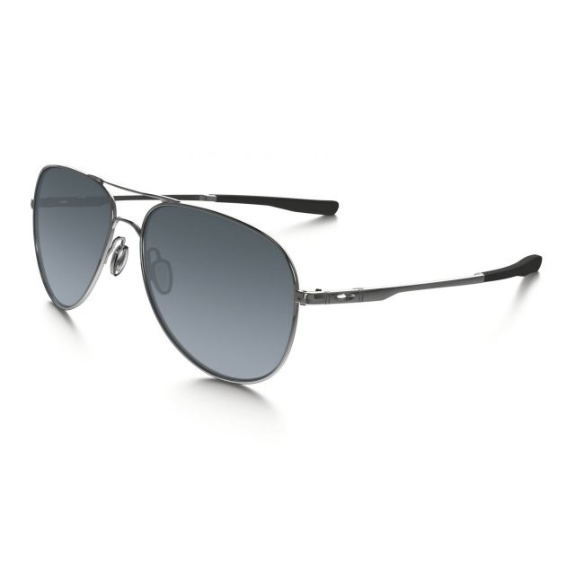 Ochelari de soare OAKLEY Elmont L Polished Chrome w/ Grey Grad Polarized (OAK-OO4119-0260) foto mare