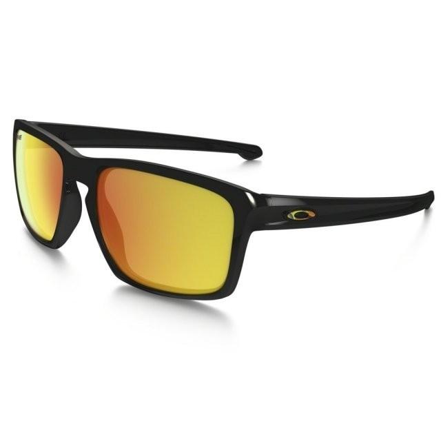 Ochelari de soare OAKLEY Sliver VR46 Polished Black w/ Fire Iridium (OAK-OO9262-27) foto mare