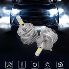Kit LED auto CREE 2017 H7 H1 H3 H8 H11 HB4 HB3 H4 bec faruri becuri proiectoare, Universal