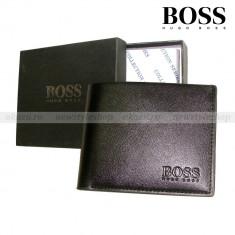 Hugo Boss - Portofel din piele - Portofel Barbati Polo Sport, Negru, Cu fermoar