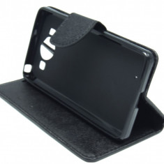 Husa tip carte Mercury Goospery Fancy Diary neagra pentru telefon Microsoft Lumia 950 - Telefon Allview