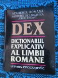 DEX - DICTIONARUL EXPLICATIV AL LIMBII ROMANE (1998, 1192 pag. - CA NOU!!!)