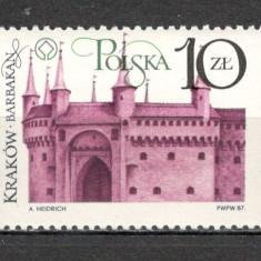 Polonia.1987 Restaurarea monumentelor din Cracovia  SP.378