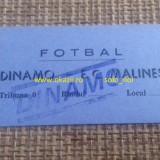 Bilet Invitatie DINAMO - FC MALINES (KV MECHELEN) 1987-1988 Cupa Cupelor