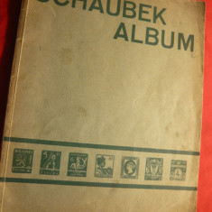 Album Schaubeck-toata lumea- selectiv-interbelic+ cateva timbre 64 pag