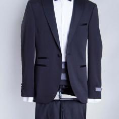 Costum ceremonie, costum nunta negru barbati Armancio 2017 model - Sacou barbati, Marime: 48