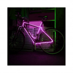 Kit fir luminos decorativ tuning cadru bicicleta roz 3 M
