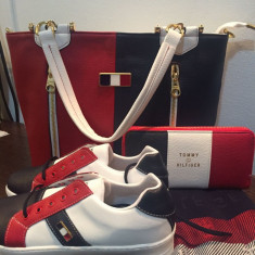 Set geanta+esarfa+tenisi+portfel Tommy Hilfiger