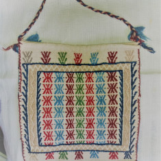 TRAISTA din lana cu modele romanesti, tesuta manual, Ardeal/-Alba, 1950, NOU - Covor vechi