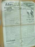 Adevarul 1 octombrie 1922 V. Goldis Batzaria Basarabia Giurgiu Roman Banat