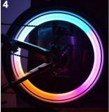 Set 2 x leduri multicolor roata pentru tuning bicicleta , vizibilitate crescuta